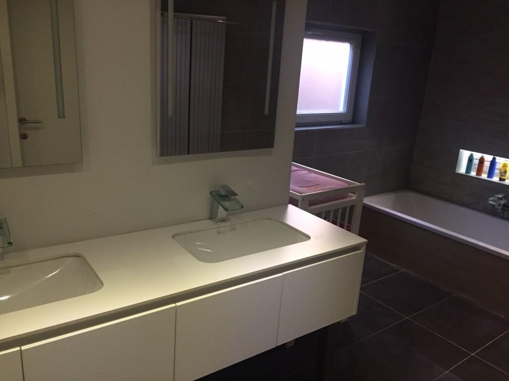 Ingerichte badkamer