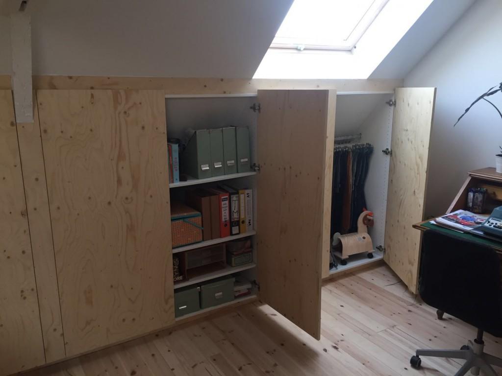 Zolder inbouwkasten 2